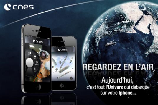 téléchargez l'application Iphone du CNES