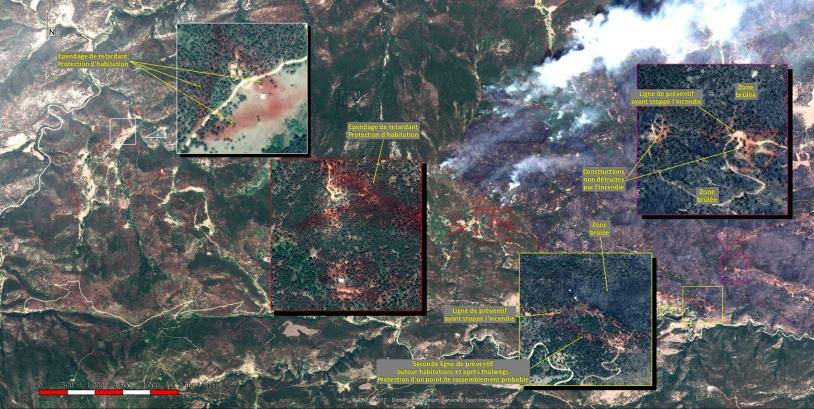 Les feux au Colorado par Pléiades - Image Photointerprétée